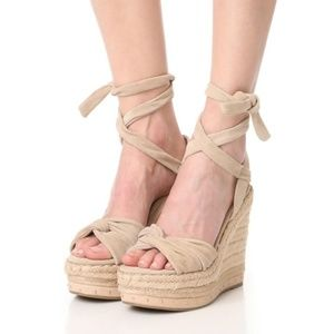 Kendall & Kylie suede espadrille wedge sandal